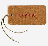 Buy me tag label Royalty Free Stock Images
