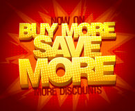 Buy more save more, sale banner Royalty Free Stock Images