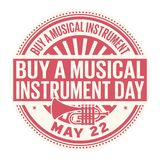 Buy a Musical Instrument Day stamp. Buy a Musical Instrument Day, May 22, rubber stamp, vector Illustration Stock Photo