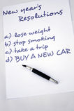 Buy a new car. New year resolution buy a new car royalty free stock image