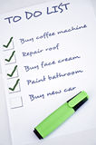 Buy new car. To do list with  buy new car Royalty Free Stock Images