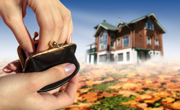 Buy new house concept Royalty Free Stock Image