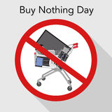 Buy nothing Day poster Stock Photography