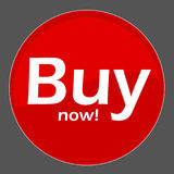 Buy now. Button in red Stock Photos
