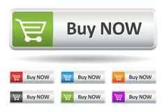 Buy Now. This image is a vector illustration representing a buy button what can be scaled to any size without loss of resolution Royalty Free Stock Photos