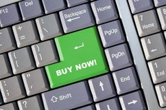 Buy Now!. Keyboard with Buy Now key - for use in online commerce Royalty Free Stock Photography