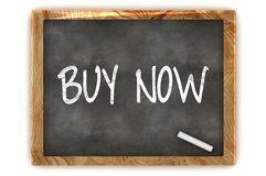 Buy Now Blackboard. A Colourful 3d Render Buy Now Concept Blackboard Illustration Stock Photos