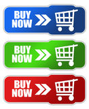Buy now button. S set on white background Royalty Free Stock Photos