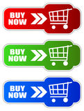 Buy now button Stock Photography