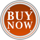 Buy now button. Buy now beige button with arrows on a white background Stock Photos