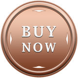 Buy now button. Buy now beige button with arrows on a white background Stock Image