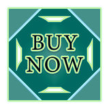 Buy now button. In blue squares with arrows Royalty Free Stock Photo