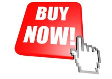 Buy now button with cursor Stock Image
