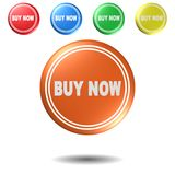Buy now,button,3D illustration Royalty Free Stock Photography