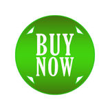 Buy now button. In green circle with arrows Royalty Free Stock Image