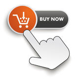 Buy Now Button Hand Cursor Royalty Free Stock Photography