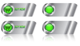 Buy now button/icon set Royalty Free Stock Images