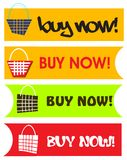 Buy Now Button Set Icons Stock Photography