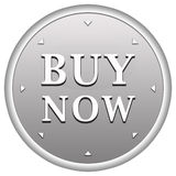 Buy now button. In silver circle with arrows Royalty Free Stock Image