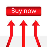 Buy now button. Vector illustration. EPS 10 Stock Photo
