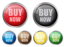 Buy now buttons Royalty Free Stock Photography