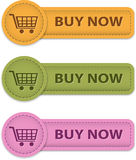 Buy Now buttons. For online shopping made of leather. Vector illustration