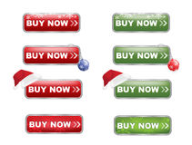 Buy now Buttons Christmas Edition Stock Photos