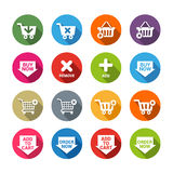 Buy Now Buttons in Flat Design Style Royalty Free Stock Photo