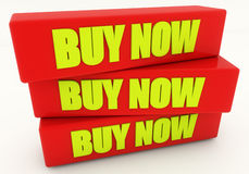Buy now 3d text Royalty Free Stock Photography