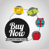 Buy now design. Illustration eps10 graphic Stock Photos