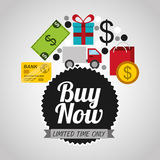 Buy now design. Illustration eps10 graphic Stock Photography