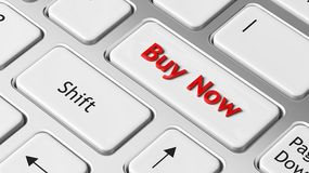 Buy Now on enter key Stock Images