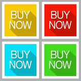 Buy now flat modern icons Stock Photography
