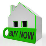 Buy Now House Means Express Interest Or Make An Offer Stock Photos