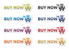 Buy now icon set Royalty Free Stock Image