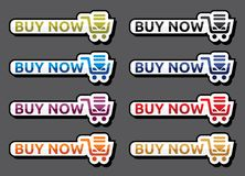 Buy now icon set Stock Images