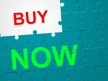 Buy Now Indicates At This Time And Bought Royalty Free Stock Image