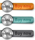 Buy now metallic web element with colored leather straps Stock Photo