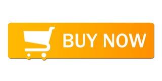 Buy now orange Stock Image