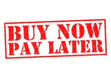 BUY NOW PAY LATER Royalty Free Stock Photography