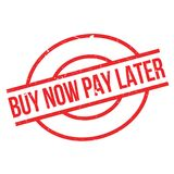 Buy Now Pay Later rubber stamp Stock Photo