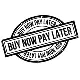 Buy Now Pay Later rubber stamp Stock Photography