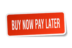 buy now pay later square sticker Stock Image