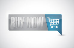 Buy now shopping cart button pointer. Illustration design over white Royalty Free Stock Images