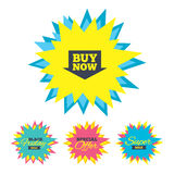 Buy now sign icon. Online buying arrow button. Royalty Free Stock Images