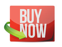 Buy now sign. illustration design Stock Image