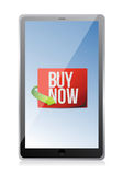 Buy now sign on a tablet. Royalty Free Stock Photos