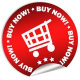 Buy now sticker Stock Photography