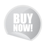 Buy now sticker Stock Images