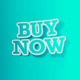 Buy Now Sticker Stock Image